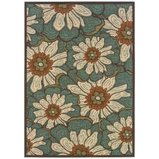 Montego Blue/Brown Outdoor Rug