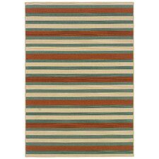 Montego Blue/Orange Multi Outdoor Rug