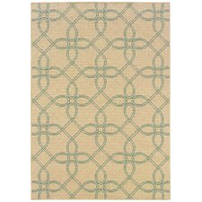 Montego Ivory/Blue Outdoor Rug