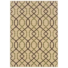 Montego Ivory/Brown Outdoor Rug