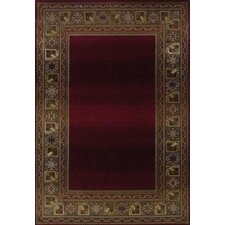 Generations Dark Red Area Rug