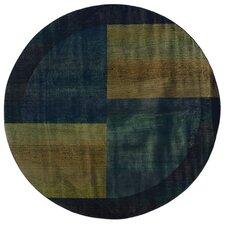 Kharma II Blue/Green Squares Rug