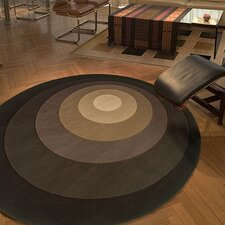 Tones Brown/Grey Circles Area Rug