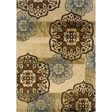 Hudson Beige/Blue Floral Rug