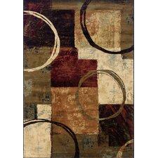 Hudson Brown/Tan Geometric Area Rug