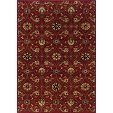 Hudson Red/Brown Floral Rug