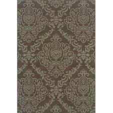 Bali Grey/Blue Floral Indoor/Outdoor Rug