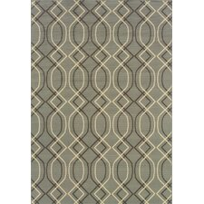 Bali Blue/Grey Geometric Indoor/Outdoor Rug
