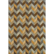 Bali Grey/Gold Geometric Indoor/Outdoor Rug