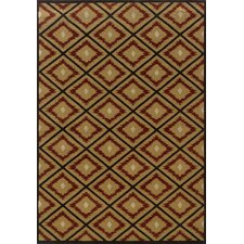 Hudson Gold/Red Geometric Rug