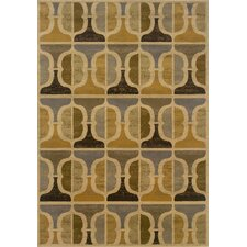 Stella Gold/Gray Geometric Rug