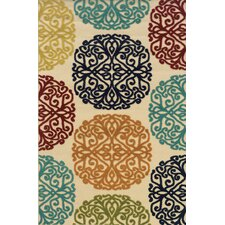 Lagos Floral Area Indoor/Outdoor Rug