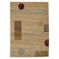 Generations Medium Beige Abstract Area Rug