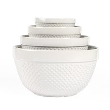 4 Piece Hobnail Mixing Bowl Set
