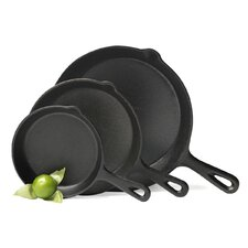 3-Piece Non-Stick Fry Pan Set