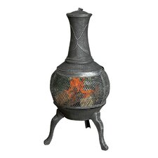 Chimnea Burner in Burnished Silver Mesh
