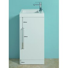 Jenta Wash Basin and Base Unit in White with Drawers