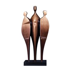 Abstract Three Person Statue