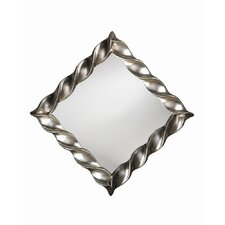 Minneapolis Wall Mirror in Bright Silver Leaf
