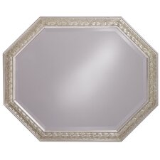 "33"" Crete Mirror with Silver Finish"