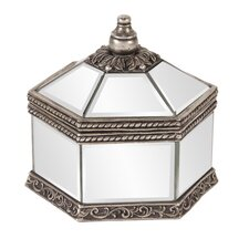 Octagonal Mirrored Jewelry Box