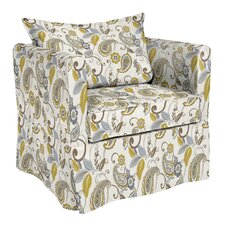 Alexandria Paisley Lagoon Arm Chair