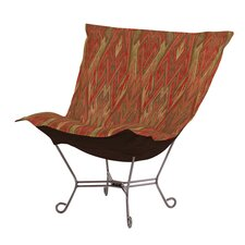 Puff Scroll Ikat Lounge Chair