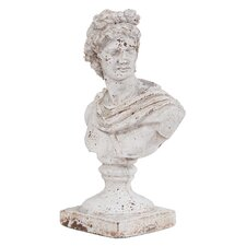 Old World Ceramic Female Ceramic Bust Statue