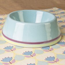 Amalfi Terracotta Pet Bowl in Stripe