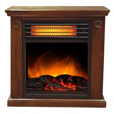 Portable 1,500 Watt Compact Infrared Electric Fireplace