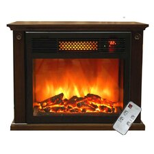 Portable 1,500 Watt Infrared Electric Fireplace with Remote Control