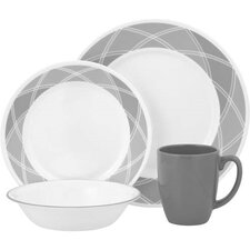 Vive Savvy Shades 16 Piece Dinnerware Set in Grey