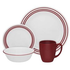 Livingware Ruby Red 16 Piece Dinnerware Set