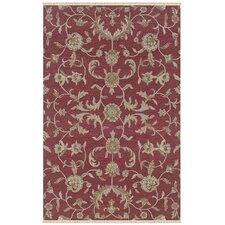 Elegance Red Floral Area Rug