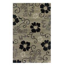 Pandora Pewter Floral Rug