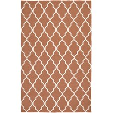 Swing Orange Lattice Rug