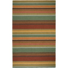 Waverly Green Stripes Rug