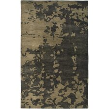 Highland Ivory/Black Abstract Rug