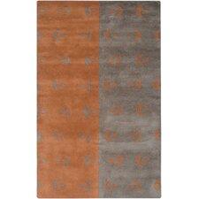 Anna Redmond Grey/Orange Area Rug