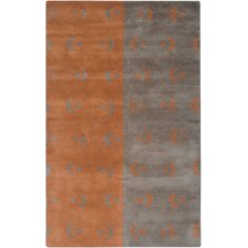 Anna Redmond Grey/Orange Rug