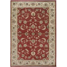Bayside Red Floral Area Rug