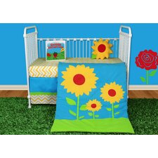 Sunflower Love 5 Piece Crib Bedding Collection