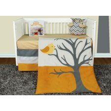 Nightie Night Owl 5 Piece Crib Bedding Collection w/ Storybook