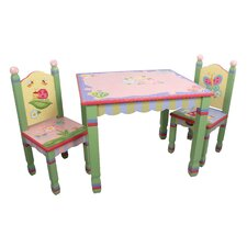 Magic Garden Kids 3 Piece Table & Chair Set