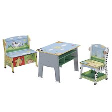 Sunny Safari Kids Desk, Chair and Bench Set