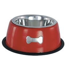 Single Dog Bowl in Red