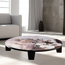 White on Brown Coffee Table