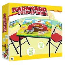 Barnyard 3 Piece Kids Table and Chair Set