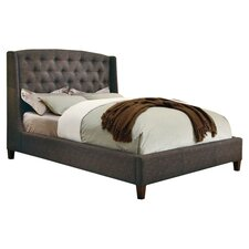 Upholstered Wingback Bed II