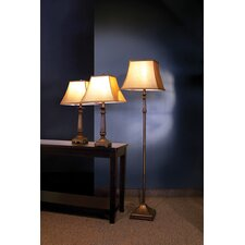 Athens Traditional 3 Piece Table Lamp Set with Square Shade